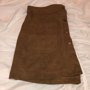Altair's State brown suede skirt!